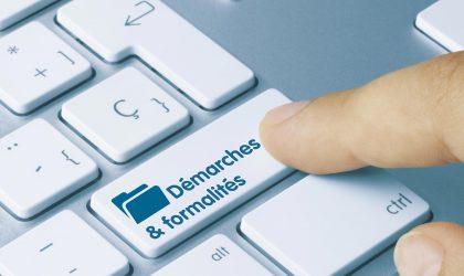 Démarches en ligne, formalités