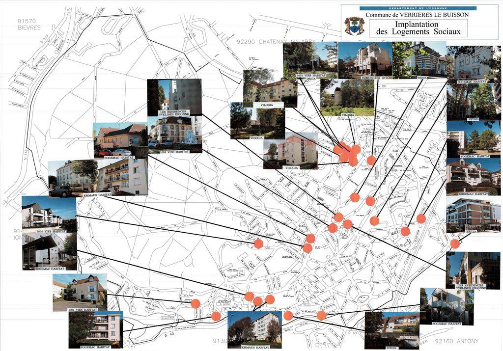 PLU - Implantation des logements sociaux actuels