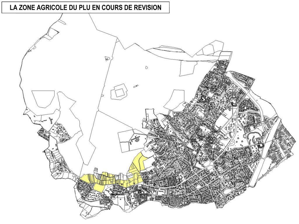 PLU - La zone agricole du PLU en cours de révision