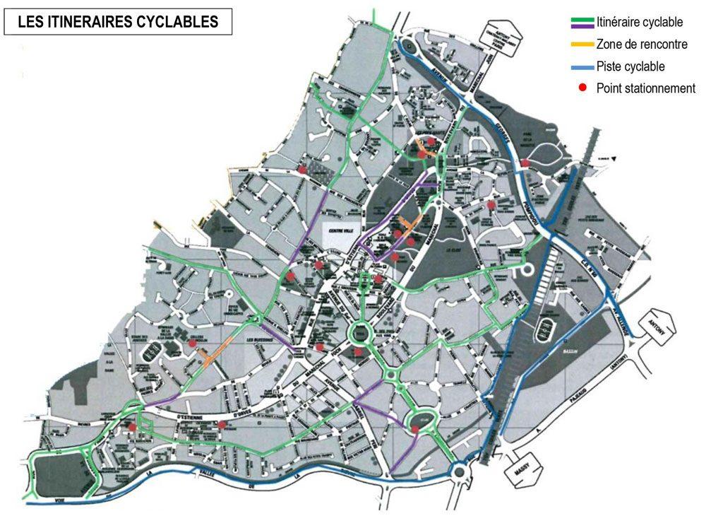 PLU - Les itinéraires cyclables