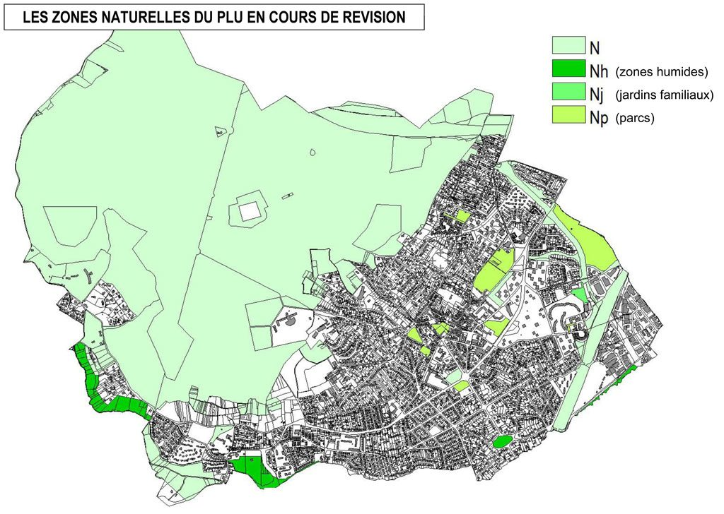 PLU - Les zones naturelles du PLU en cours de révision