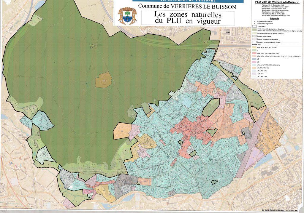 PLU - Les zones naturelles du PLU en vigueur (2003-2019)