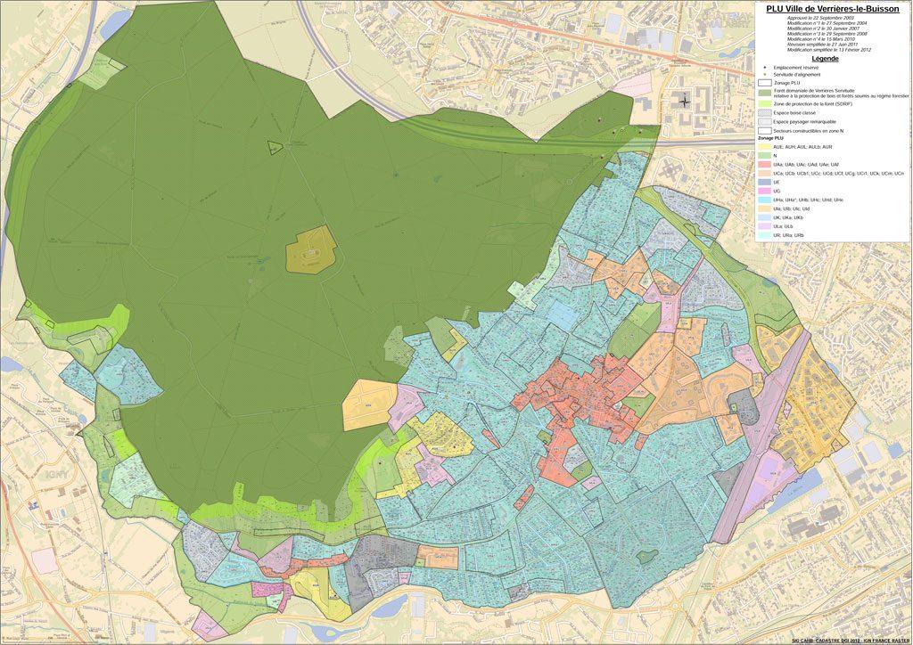 PLU - Plan de zonage du PLU en vigueur (2003/2019)